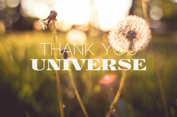 Image result for thank you universe